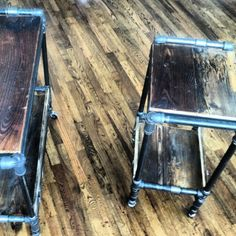 industrial salon carts from vonsauce.com - LOVE these!!