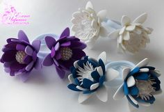Flower Shape, Crochet Flowers, Paper Flowers, Beaded Jewelry, Hair Accessories, Shapes, Embroidery, Hair, Jelly Beans