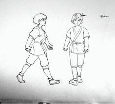 Walk cycle exercice at school, tried to animate Ashitaka