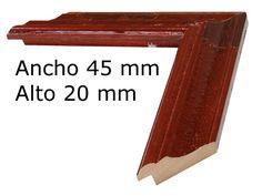 Moldura rústica color rojo teja a  $6.26 € el metro. www.cuadrosdomingo.com