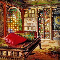 Mouth watering... Juna Mahal, Dungarpur, Rajasthan #junamahal #dungarpur #stainedglass #rajasthan #indianpalace #indianheritage