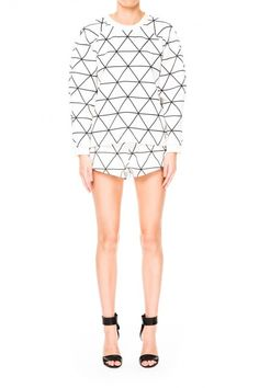 Cameo The Label | From Time Pullover | Monochrome Lattice | Shop Now | BNKR |