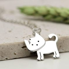 Sterling Silver Cat Necklace Cat Lover Jewellery