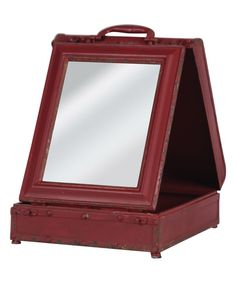 Look at this Metal Folding Tabletop Mirror on #zulily today!