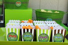 "Photo 35 of 50: Teenage Mutant Ninja Turtles / Birthday ""Go Ninja Go Ninja Go - A Joint Birthday Party"" | Catch My Party"