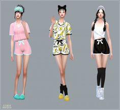 SIMS4 Marigold: Ribbon Pajamas Shorts • Sims 4 Downloads