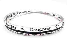 316L Stainless Steel Mother Daughter Everlasting Bond Adjustable Cuff Bracelet Wristband Bangle