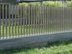 Creative and Modern Ideas: Brick Fence Landscaping fence design outdoor.Horizontal Fence Design country fence and gates.