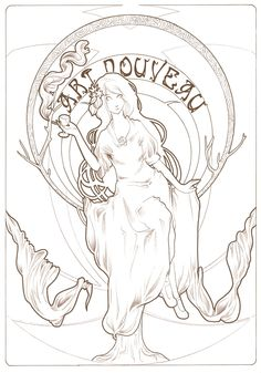 Art Nouveau was an excuse to draw something inspired by Mucha! Description from 3lda.deviantart.com. I searched for this on bing.com/images