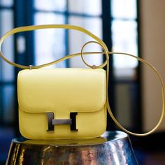 Fancy - Hermes Constance Bag - love the yellow