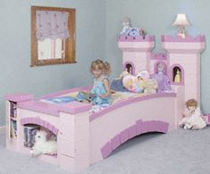 Castle Bed Woodworking Pattern I LOVE THIS! I will try and convince my hubby to make it! lol - My Easy Woodworking Plans Woodworking For Kids, Woodworking Bed, Woodworking Patterns, Easy Woodworking Projects, Woodworking Beginner, Woodworking Quotes, Woodworking Workshop, Woodworking Videos, Princess Castle Bed