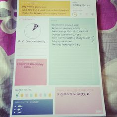 I love this pad so much. It helps me plan out my day and stay organized!