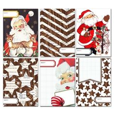 Woodland Santa Journaling Cards