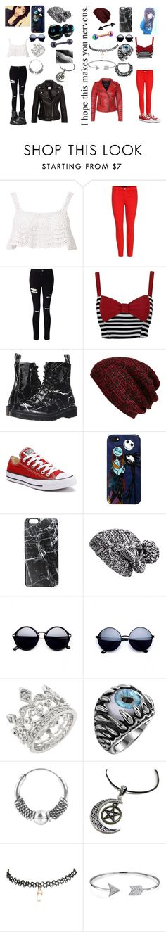 """""""Going Out On The Town"""" by rainbowsdear on Polyvore featuring Beauty & The Beach, J Brand, Miss Selfridge, Dr. Martens, King & Fifth Supply Co., Converse, Loungefly, Casetify, Zella and Urbiana"""