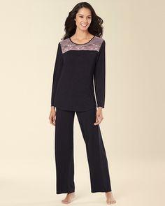 1490a65eb1 Soma Intimates Midnight by Carole Hochman Alluring Lace Pajama Set  #somaintimates