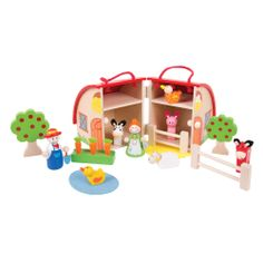 """""""Old MacDonald had a farm, E-I-E-I-O!"""" This wooden Mini Farm Playset is perfect for those who love a day at the farm. The Bigjigs farmer and his wide need help looking after all of the animals including a duck, sheep, pig, cow, chicken and horse; all of which can be tucked away in the farm for safe keeping! Suitable for children aged 3 years+. Available MAY: http://shop.bigjigstoys.co.uk/p/mini-farm-playset?pp=20"""