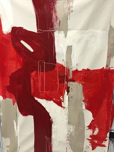Abstract in Rouge. 2015.   Mixed media on canvas 3' x 5'