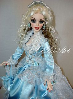 "2012 EVANGELINE AND PARNILLA GHASTLY OOAK FASHION ""MY BLUE HEAVEN"" BY COLLET-ART 