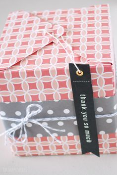 Simple Gift Box for Any Occasion! Such a cute box made out of paper supplies from the Home+Made Line