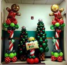 Link O Loon Christmas Tree Christmas Carnival, Christmas Party Decorations, Christmas Themes, Kids Christmas, Christmas Crafts, Balloon Crafts, Balloon Decorations, Celebration Balloons, Christmas Balloons