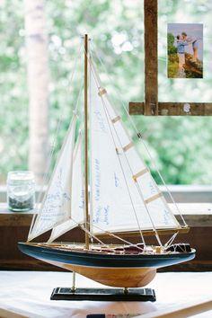 sail boat guest book