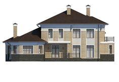 Проект «Шербон» - Вид сзади Cabin, Mansions, House Styles, Design, Home Decor, Decoration Home, Manor Houses, Room Decor, Cabins