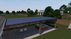 95 m2-es kádárkocka energiatudatos felújítása, alaprajzzal és látványtervvel A kert végében elhelyeztünk egy fedett kerti részt, melyet a garázs mellé tettünk, hogy oda be, illetve ki lehessen vinni dolgokat. A tetőn napelemeket helyeztünk el, mert a ház tetején nem volt elég hely. A napelemeket akár vízszintesen is el lehet helyezni, ha nincsen más megoldás. Az épületgépész ilyenkor is gondosan méretezi a hatásfokát és beilleszti a rendszerbe. Ping Pong Table, Merida, Furniture, Home Decor, Decoration Home, Room Decor, Home Furnishings, Home Interior Design, Home Decoration