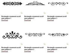 Free rectangle ornament patterns 450x345 無料のベクター飾り罫6点!シンプルです。(商用可・EPS・SVG・DWG)   Free Style
