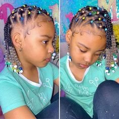 Toddler Braided Hairstyles, Cute Little Girl Hairstyles, Little Girl Braids, Natural Hairstyles For Kids, Braids For Kids, Kid Hairstyles, Sweet Hairstyles, Natural Hair Styles Kids, Mixed Baby Hairstyles