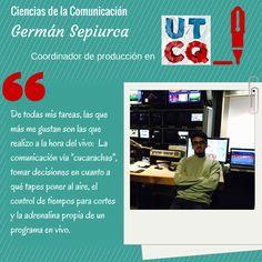 """Germán Sepiurca, alumno de la Licenciatura en Ciencias de la Comunicación de UADE, forma parte del programa """"Una Tarde Cualquiera"""" - conducido por el """"Bahiano"""" y emitido por TV Pública - desde el 2014. #Comunicación #Periodismo"""