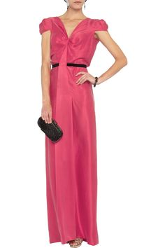 Roland Mouret Carbury washed-silk dress - 55% Off Now at THE OUTNET