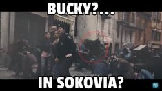 So while rewatching AOU I noticed this dude in the background. He has long brown hair, is wearing dark clothing,has a black backpack like the one that Bucky has in civil war, and appears to have a glove on his hand...I think that Bucky may of hidden in Sokovia before it was destroyed.