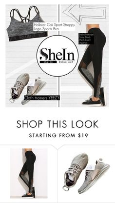 """""""Black Mesh Leggings from Shein"""" by angel-from-heaven ❤ liked on Polyvore featuring Hollister Co."""