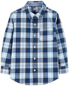 4342c108 Oshkosh Short Sleeve Button-Front Shirt Boys | Products | Plaid ...