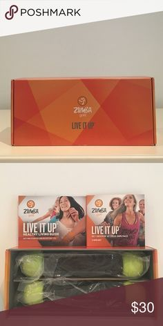 ZUMBA GOLD LIVE IT UP DVD SET What's in the Box: Step by Step DVD Cardio DVD Gold-Toning DVD Healthy Living Guide book 1 pair of 1 lb. maraca-like Zumba Toning Sticks Zumba Other