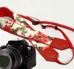 Roses Camera Strap. DSLR / SLR Camera Strap. Photo Camera accessories. For Sony, canon, nikon, panasonic, fuji and other cameras.