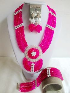 Find More Jewelry Sets Information about luxury nigerian wedding Fuchsia Pink african beads jewelry set Crystal bride jewelry set LM 016,High Quality jewelry inlay,China jewelry display free shipping Suppliers, Cheap jewelry cameo from Chinese jewelry import and export co., LTD on Aliexpress.com