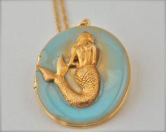 The Mermaid Locket  Vintage by verabel on Etsy