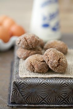 The Perfect Molasses Cookie (Grain Free, Paleo, Gluten Free) via Deliciously Organic.net