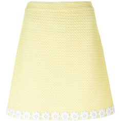 Boutique Moschino Floral Hem Mini Skirt (4.265.830 VND) ❤ liked on Polyvore featuring skirts, mini skirts, short mini skirts, floral mini skirt, beige skirt, beige a line skirt and floral print a-line skirt