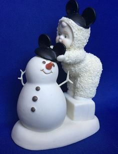 Disney Dept 56 Snowbabies Be Like Mickey Too Mickey Mouse and Snowman Ears 2007 #Department56