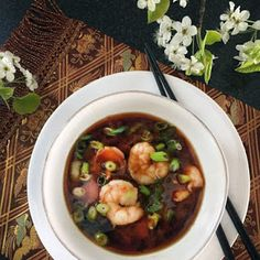 Miso Soup with Shrimp and Bok Choy