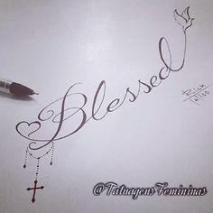 WEBSTA @ tatuagensfemininas - Abençoada(o).{Caligrafia}.Tatuador/Tattoo Artist:Rick_tattooscp..✧ℐnspiração 〰 ℐnspiration .✧#tattoo #tatuagem #tattooed #tattooer #tattoogirl #blessed #caligrafia #TatuagensFemininas✧