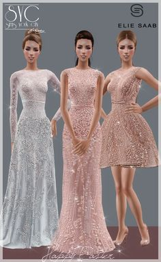 Find tips and tricks, amazing ideas for Elie saab. Discover and try out new things about Elie saab site Sims 4 Dresses, Dresses Short, Day Dresses, Formal Dresses, Sims 4 Outfits, Elie Saab, Sims Four, Sims 4 Mods, Sims 4 Wedding Dress