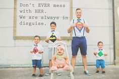 "Replace the quote with just ""Her superheroes"""