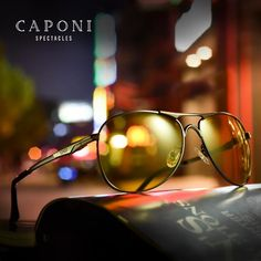 0e232cdba #Fashion #BestPrice CAPONI Brand Men's Pilot Sunglasses Driving  Photochromic Polarized Discoloration BSYS8722 #Discounts