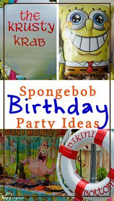Spongebob Squarepants Birthday Party ideas including a free printable invitation, food ideas, games and activities, and decor. The perfect party for our 6 year old and for the summer!