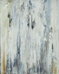 Minimalist Painting Neutral White Gray Abstract Original Modern Texture Canvas Art