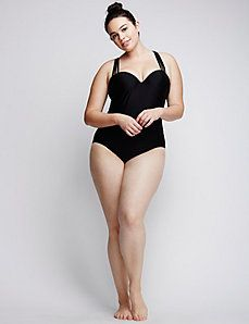 Shop plus size one piece swimsuits from Cacique. Find the newest styles & browse our selection of womens' one piece swimsuits in sizes Plus Size One Piece, Looks Plus Size, Women's One Piece Swimsuits, Plus Size Swimsuits, Plus Size Posing, Female Pose Reference, Mode Plus, Figure Poses, Girl Outfits