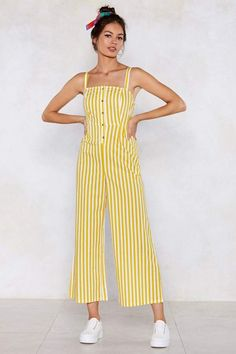 Not a dress fan but still want to look smart? Grab a dressy jumpsuit from Nasty Gal. Jumpsuit Dressy, Jumpsuit Outfit, Striped Jumpsuit, Jumpsuit Style, Summer Jumpsuit, Jumper Outfit Jumpsuits, Pretty Outfits, Cute Outfits, Casual Outfits